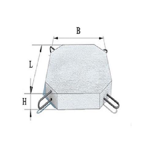 Плита укрепления П-1 и П1м Серия 3.501.1-156.1-04